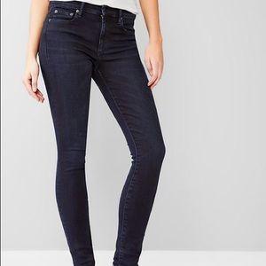 GAP 1969 True Skinny Dark Wash Jeans 29 Tall Long